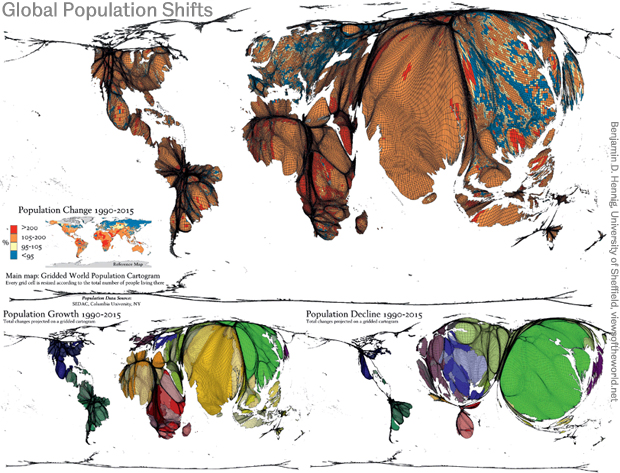 Global Population Shifts 1990-2015 Preview map