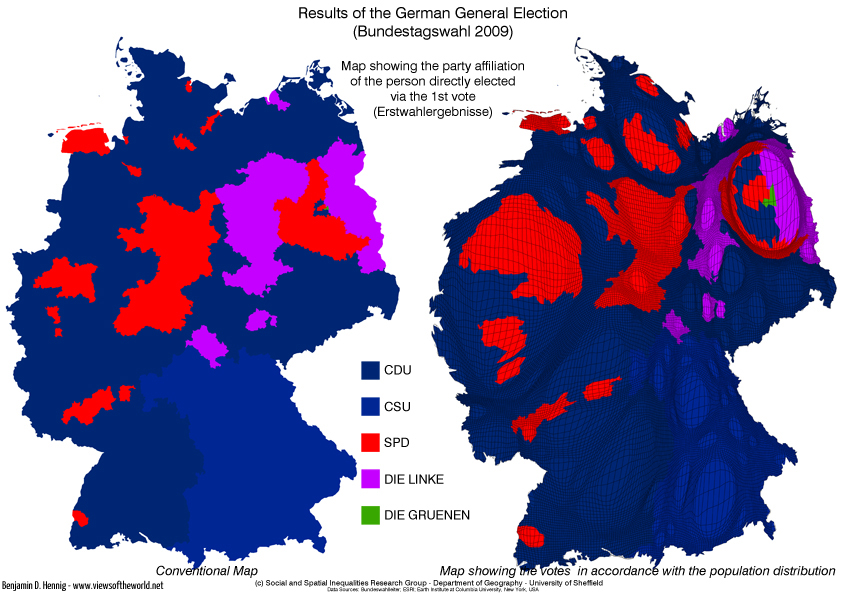 Bundestagswahl 2009 / German General Election - Erststimmenergebnisse