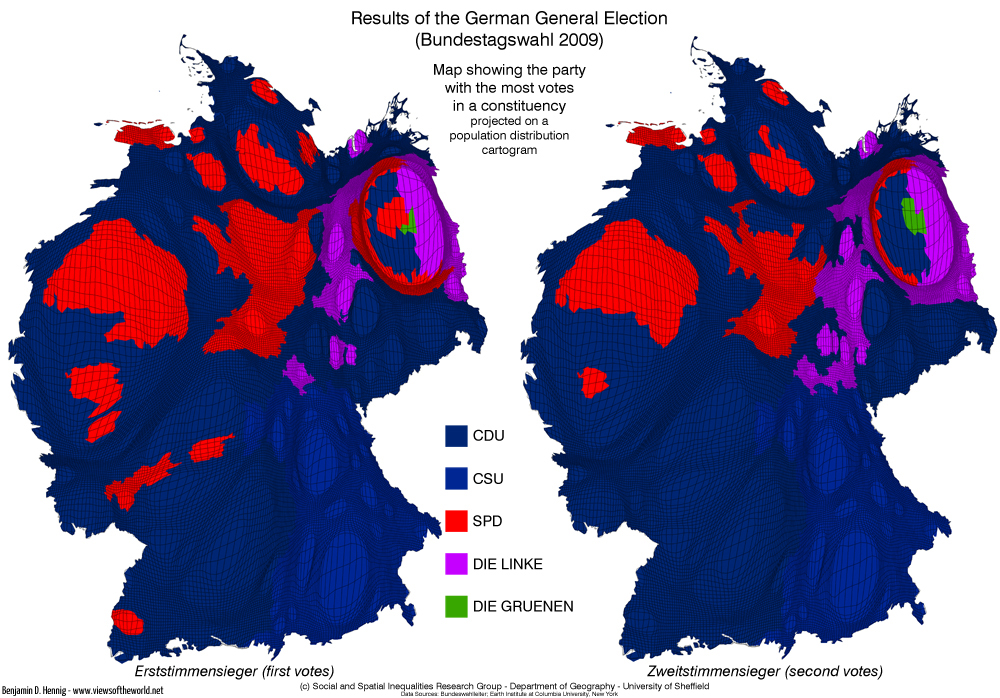 Bundestagswahl 2009 - General Election Germany: The winners