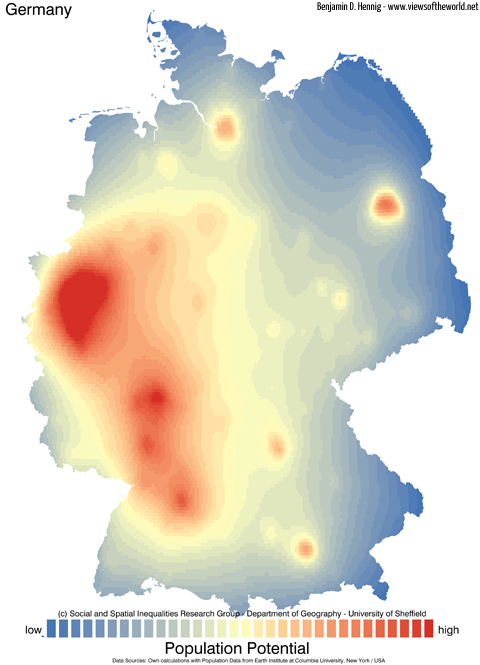 Population Potential of Germany