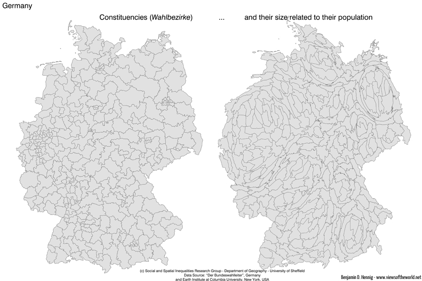 German Constitutencies / Wahlbezirke