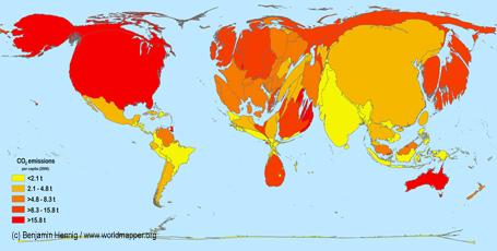 Per Capita Carbon Dioxide Emissions 2006