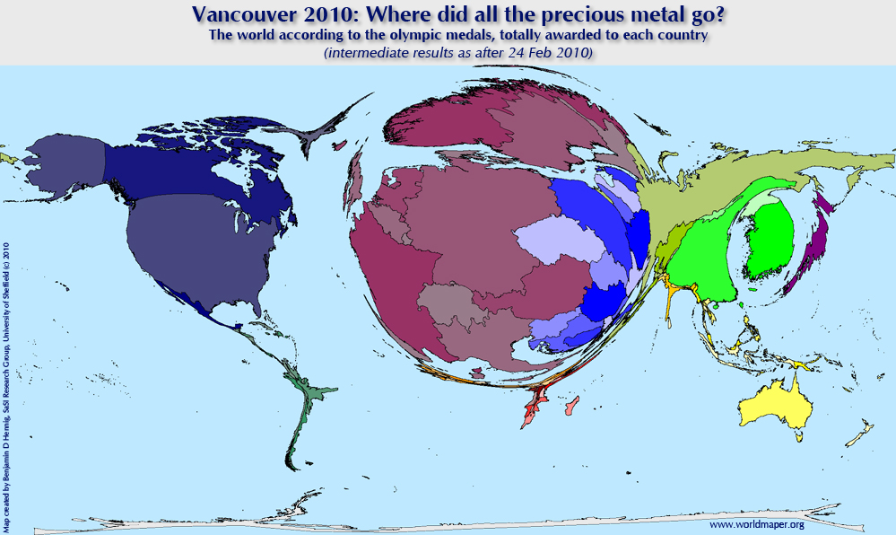 Vancouver Revisited Paralympics Vs Olympics Views Of The World - Us vs europe map