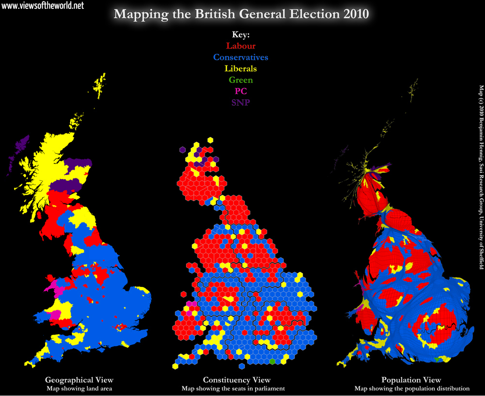 Mapping the General Election 2010 in Great Britain
