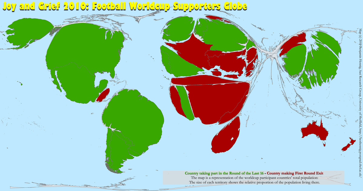 Football Worldcup 2010: The supporting population