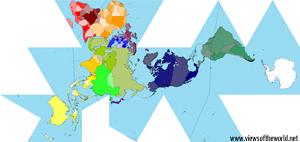 Worldmapper map using the Fuller projection