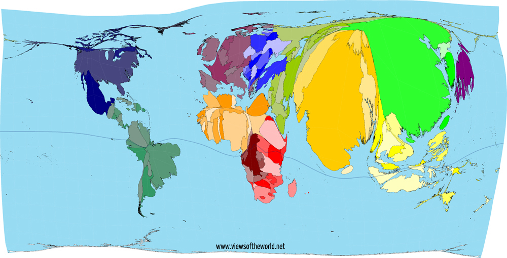 Gall Peters Projection World Map.A Brief Look At Map Projections Views Of The World