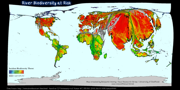 Map of River Biodiversity  at Risk