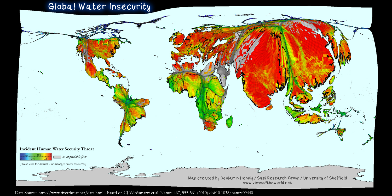 map of global water insecurity