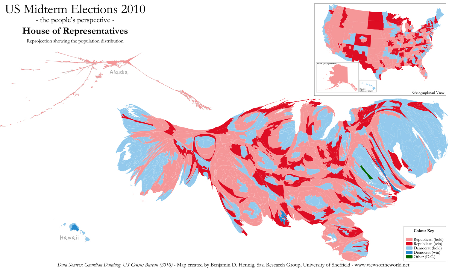 Mapping The US Midterm Elections Views Of The World - Map of population density us election