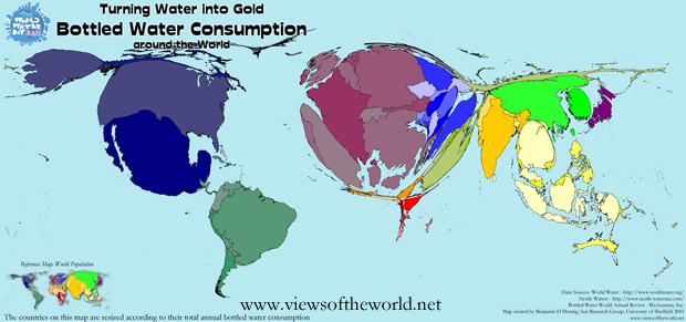 Worldmapper archive the world as youve never seen it before news global bottled water consumption gumiabroncs Image collections