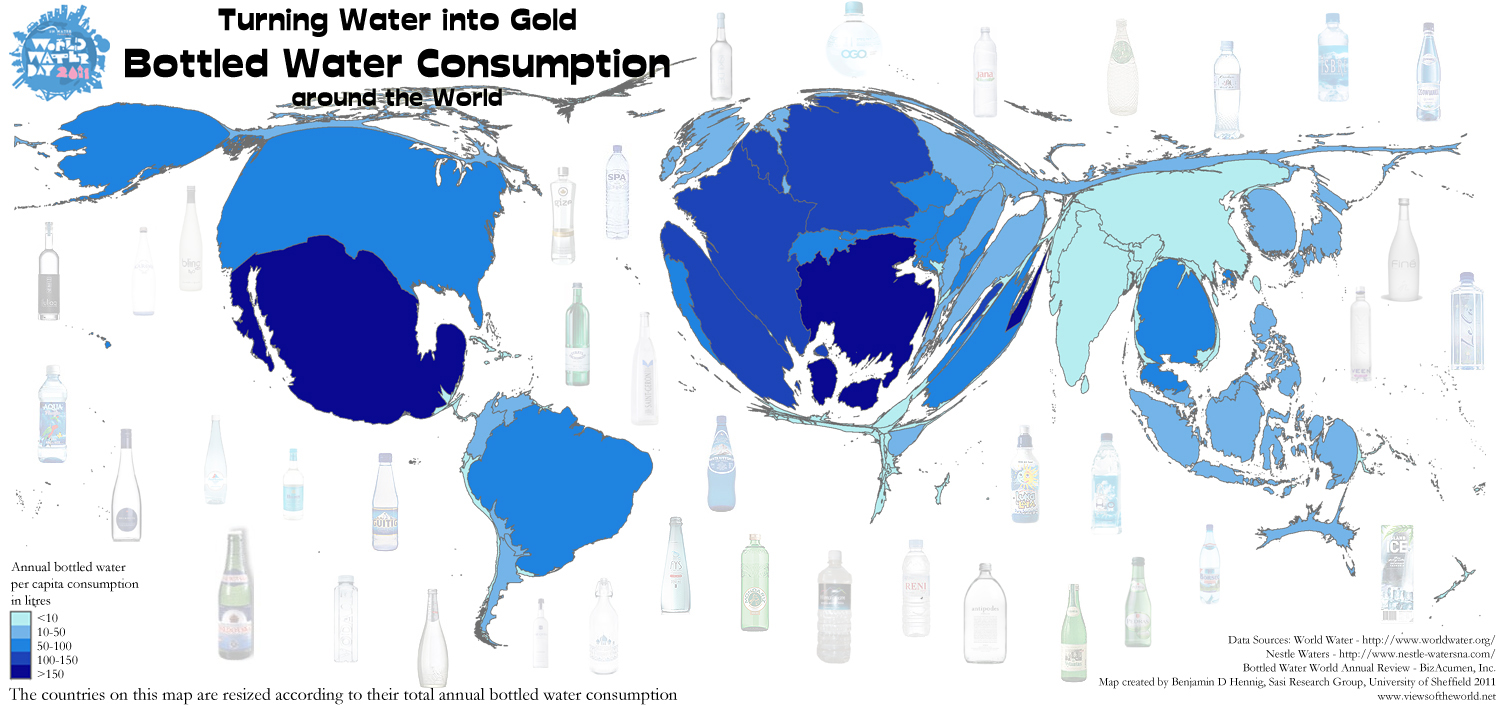 World Map Water.World Water Day Views Of The World