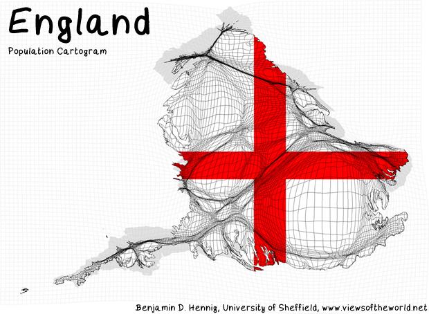 Population Map / Cartogram England