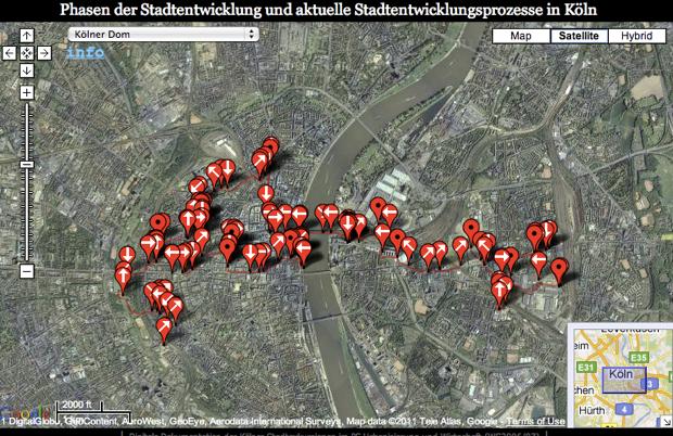 Digitale Exkursionsdokumentation: Phasen der Stadtentwicklung und aktuelle Stadtentwicklungsprozesse in Köln