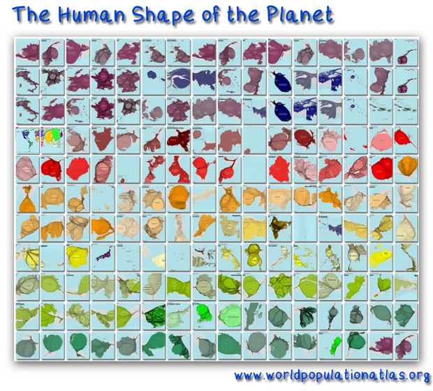 The Human Shape of the Planet: The World Population Atlas