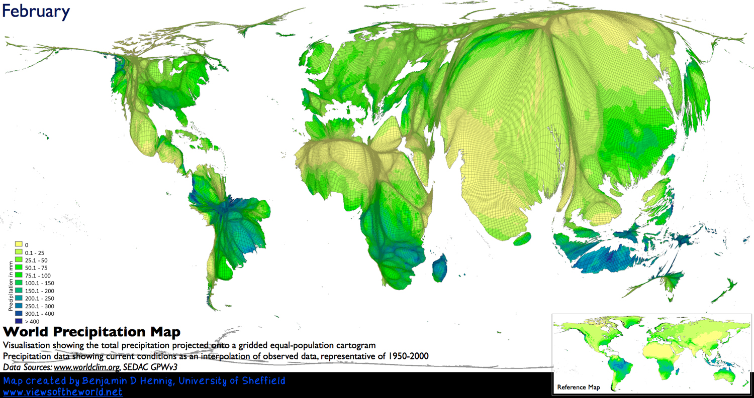 When Does It Always Rain On Us Views Of The World - Rainfall-map-us