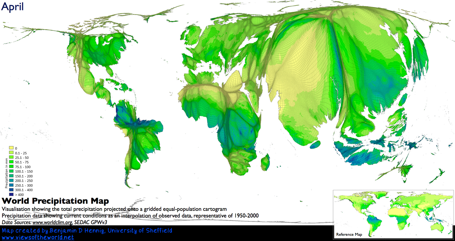When Does It Always Rain On Us Views Of The World - Us map with population