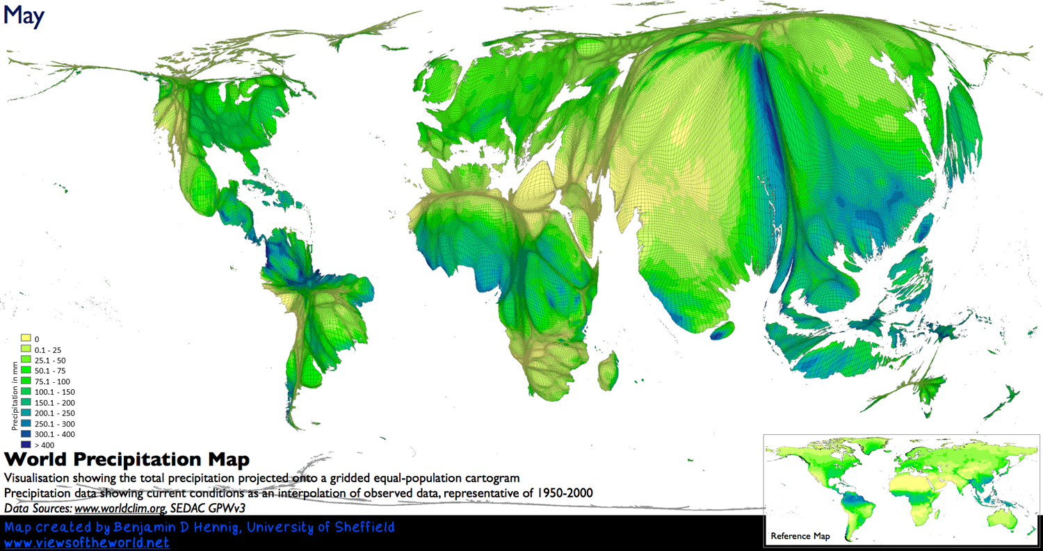 When Does It Always Rain On Us Views Of The World - Map us population