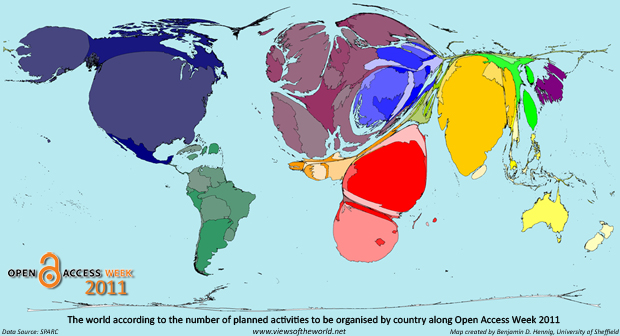 World Population Cartogram 2011