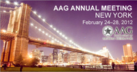 AAG Annual Meeting 2012