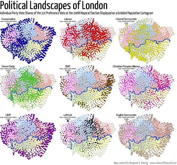 The 2008 London Mayoral Election in Maps