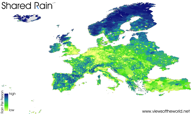 Map of Shared Rainfall