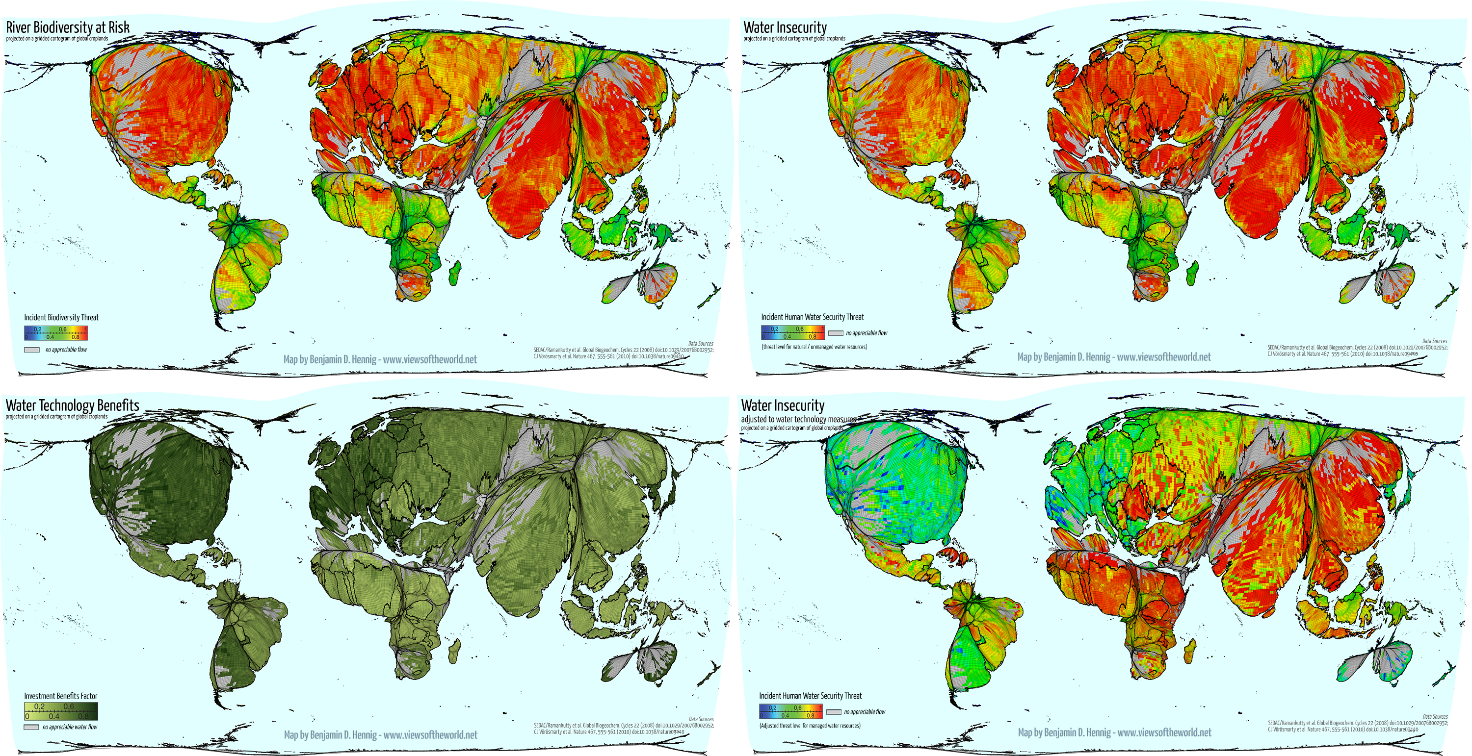Global Spaces Of Food Production Views Of The World
