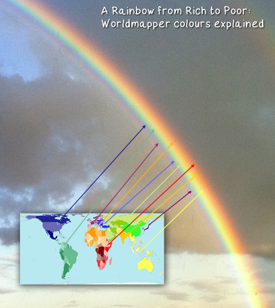 The Worldmapper Rainbow