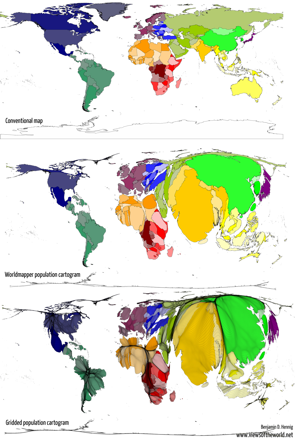 On the grid: Worldmapper and beyond - Views of the World