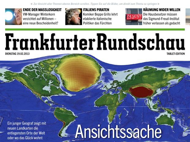 Frankfurter Rundschau front page