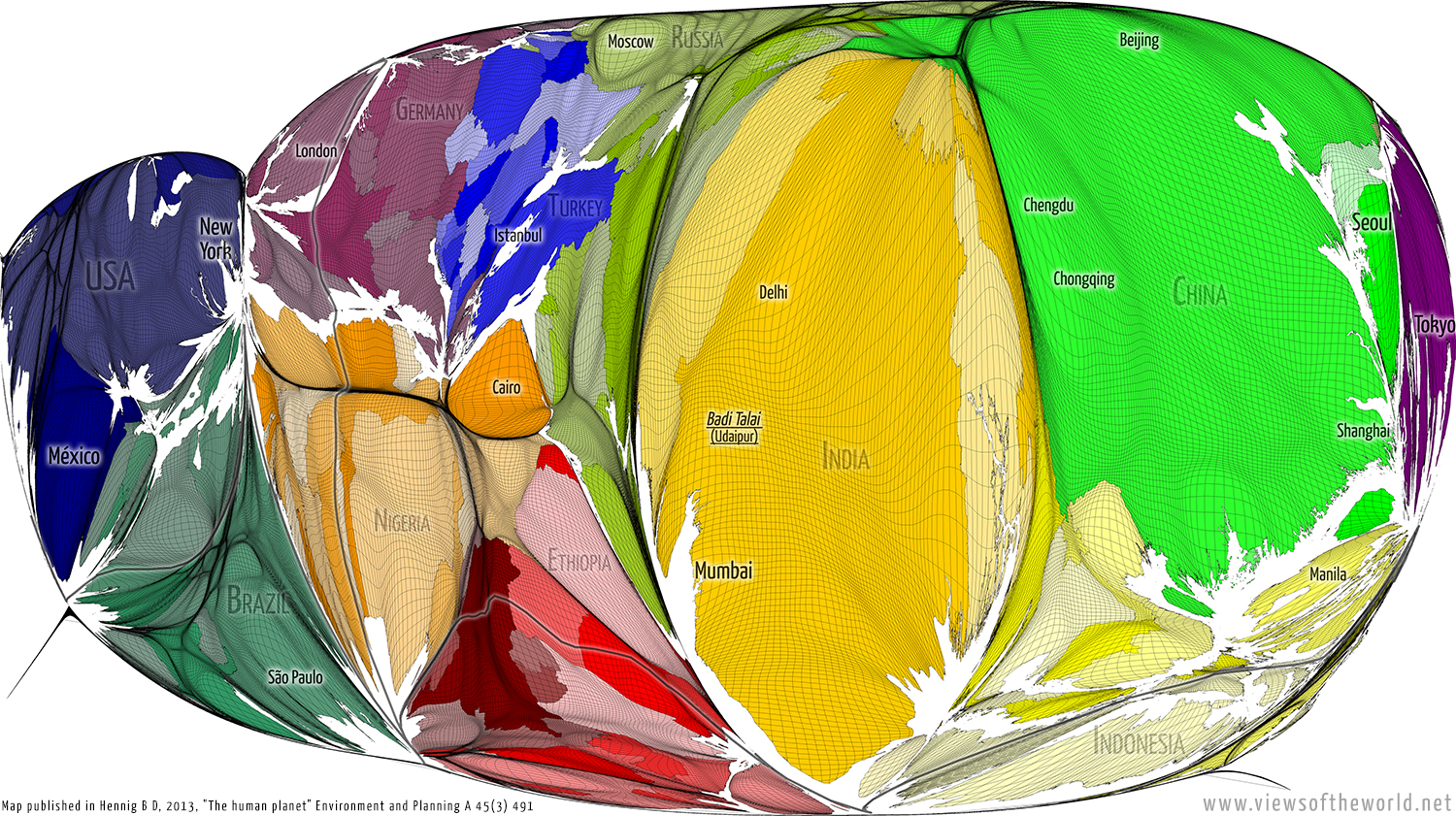 Views of the World worldmapping beyond mere description – Map World Real Proportions