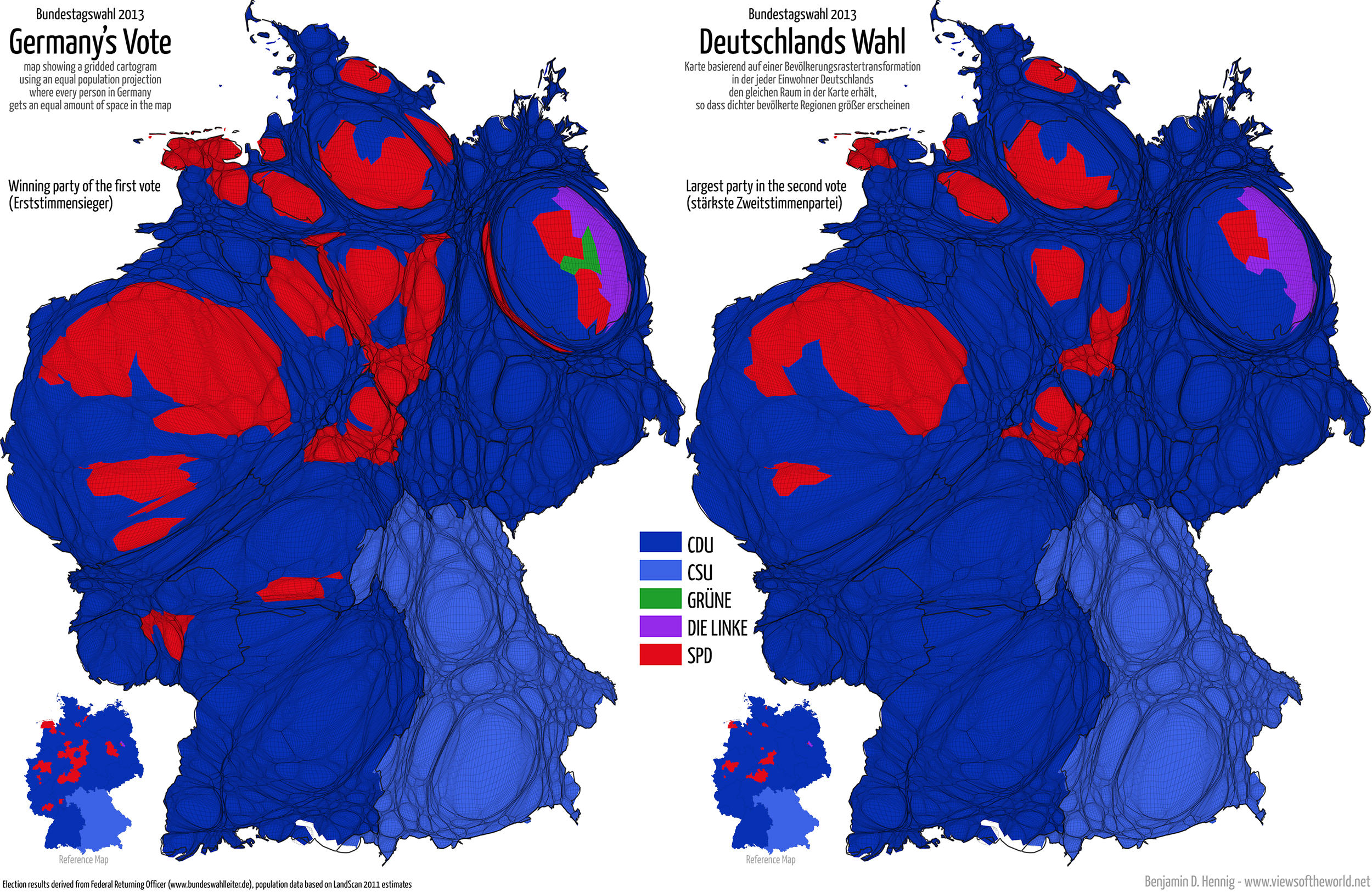 Bundestagswahl Electoral Maps Of Germany Views Of The World - 2016 us election results map regional