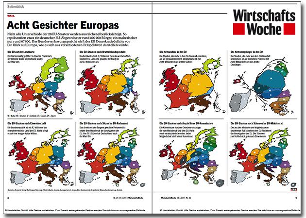 Wirtschaftswoche Europakarten