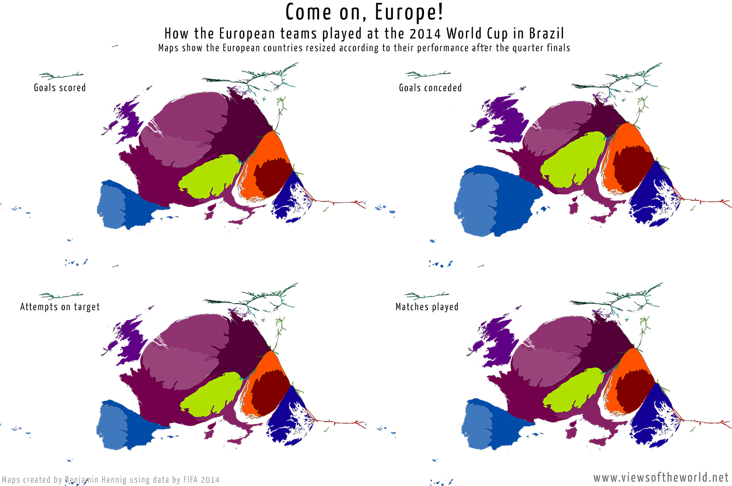 Europe in Brazil Views of the World – Map World Brazil