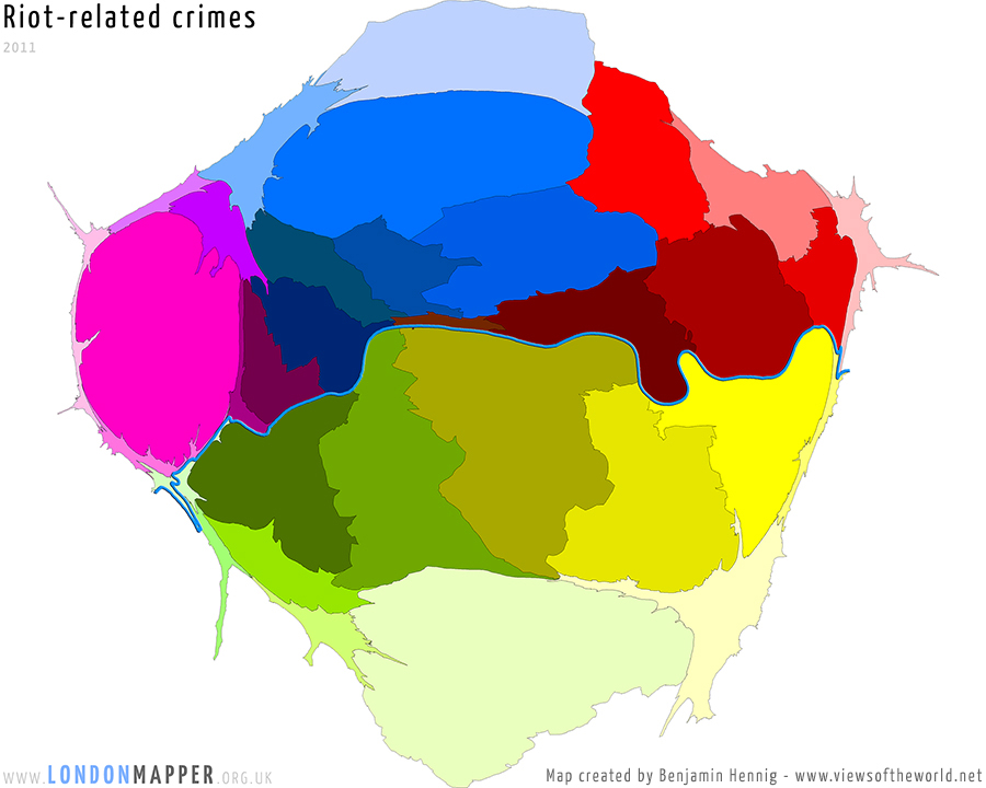 Recorded crimes related to the August 2011 riots in London