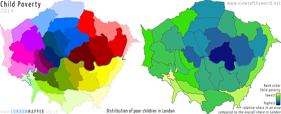 Child Poverty in the London Boroughs, 2014