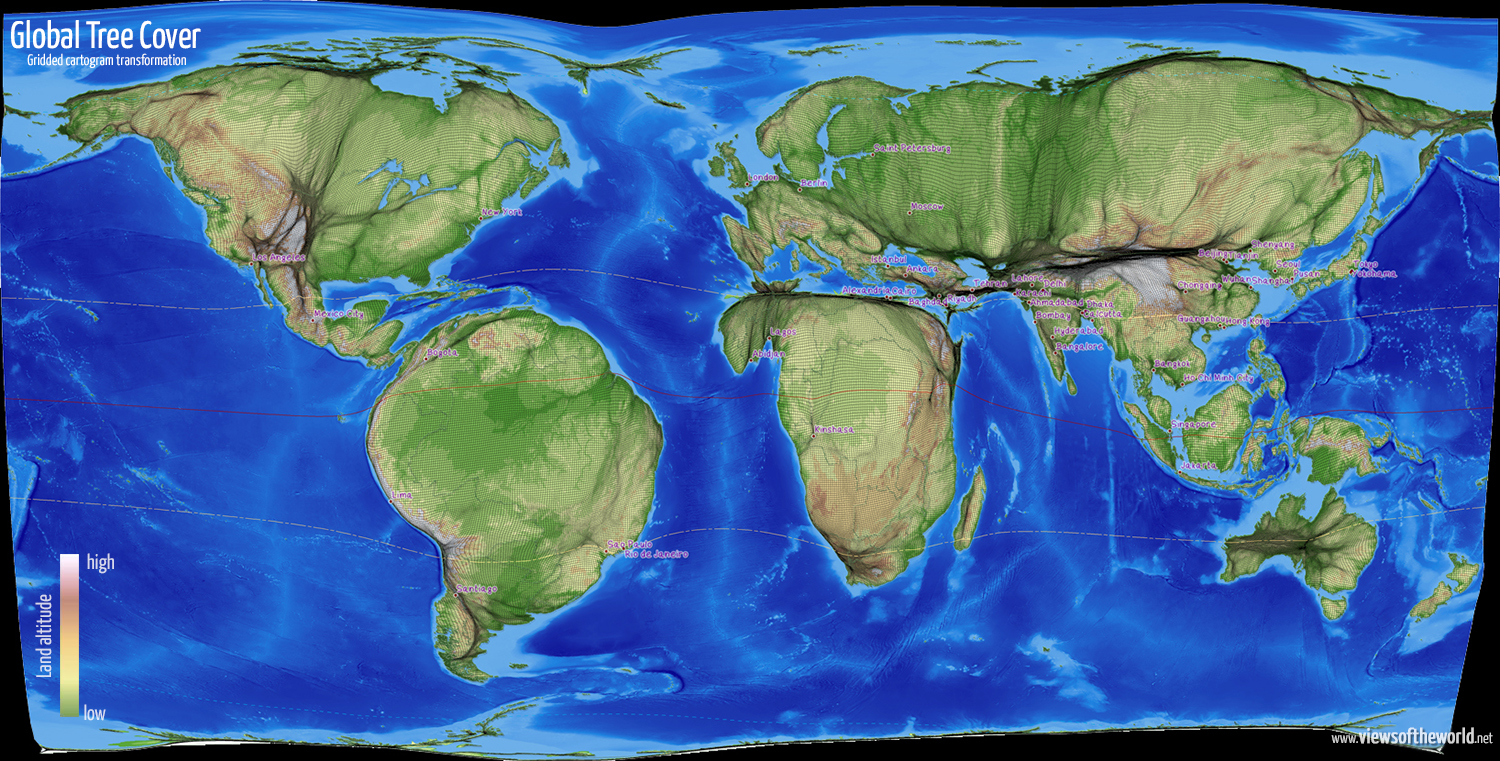 Global tree cover views of the world global tree cover gumiabroncs Choice Image