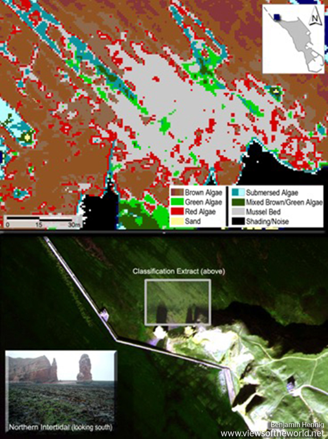 ROSIS hyperspectral remote sensing data classification on Helgoland
