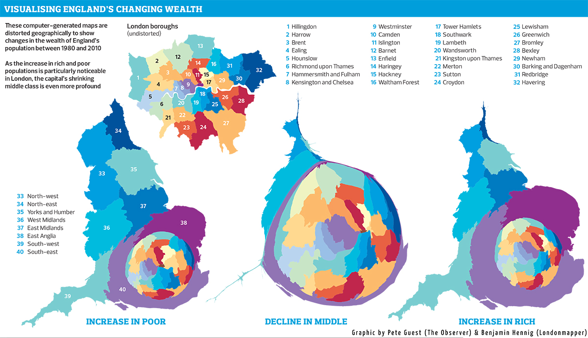 Visualising England's Changing Wealth