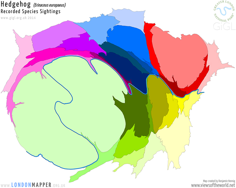 London Species Map: Hedgehogs