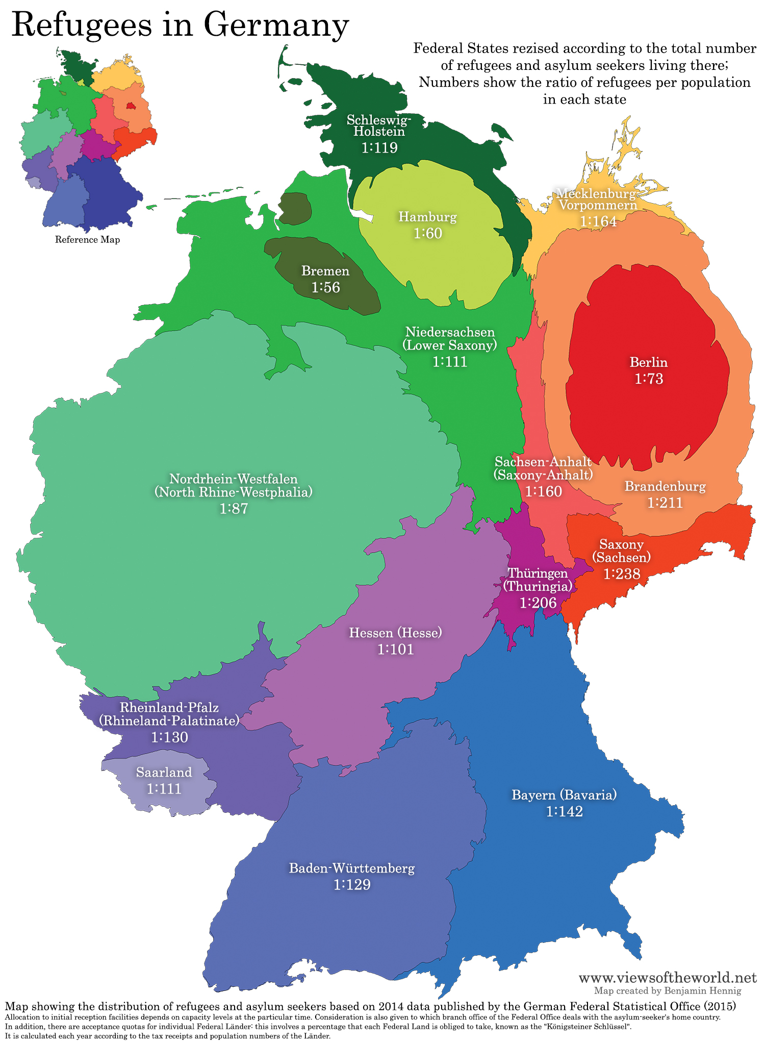Germany On Map Of World.Refugees In Germany Views Of The World