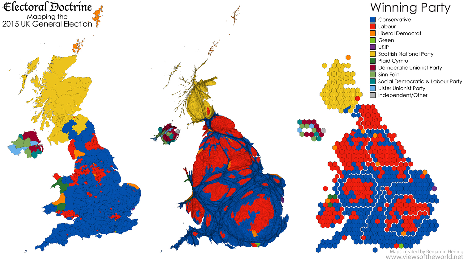 Map series of the 2015 UK General Election