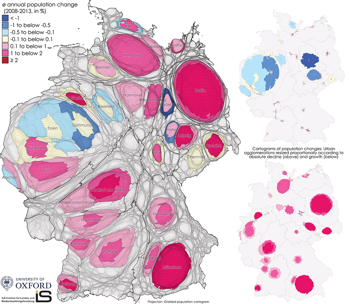 Mapping the Growth and Decline of Urban Agglomerations in Germany