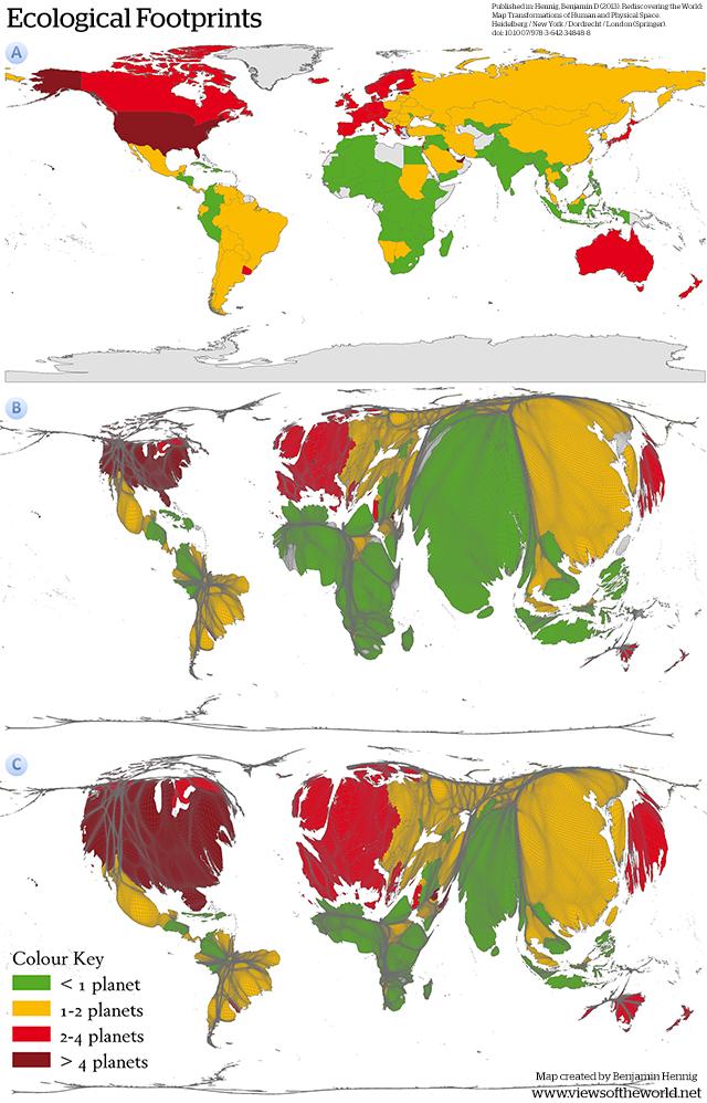 Ecological Footprint Map & Cartogram Series
