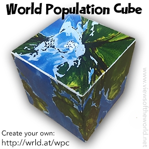 World Population Cube