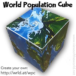 World Population Cube