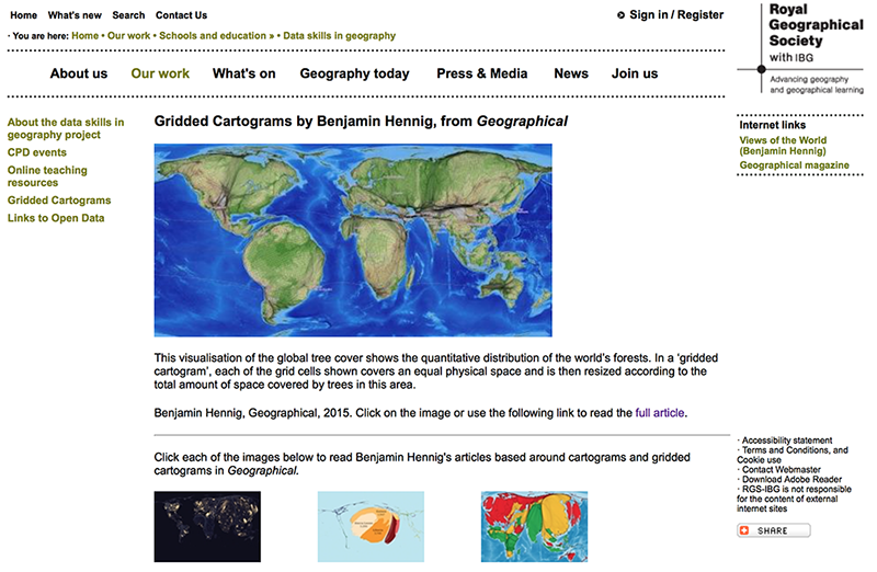 Geographical Cartograms