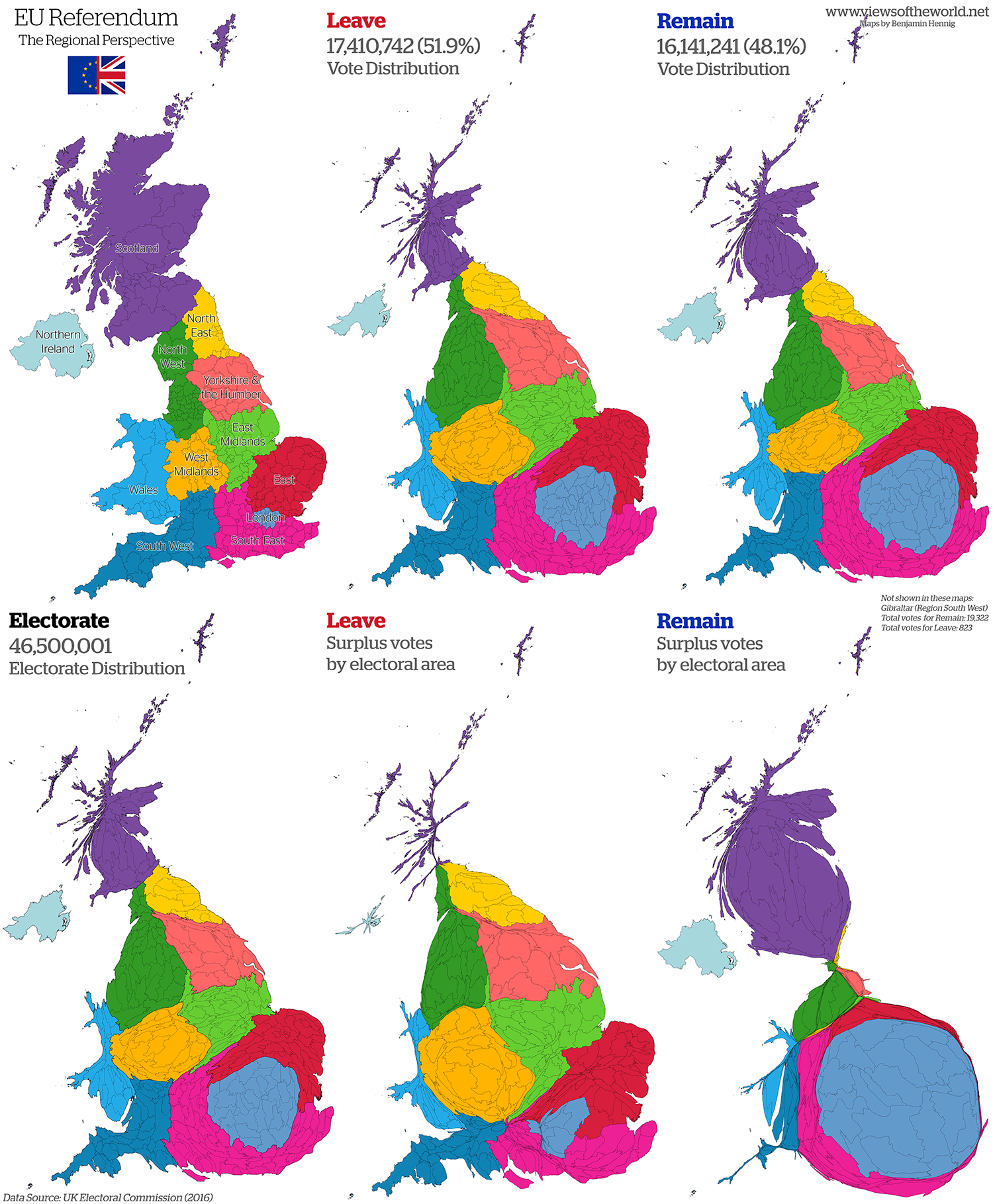 eu referendum 2016 cartogram series