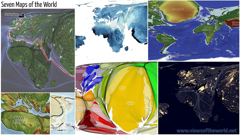 Seven Maps of the World