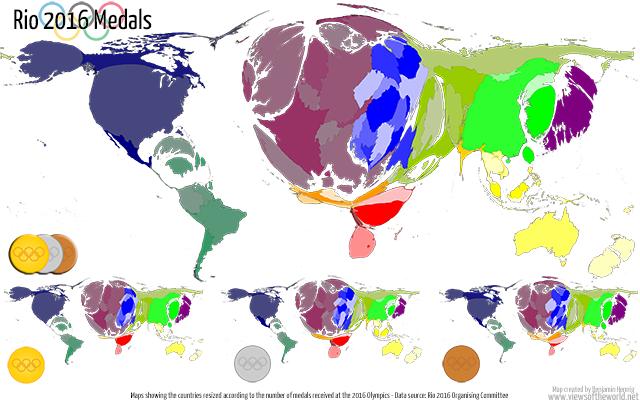 Rio Olympics 2016 - Medal Maps